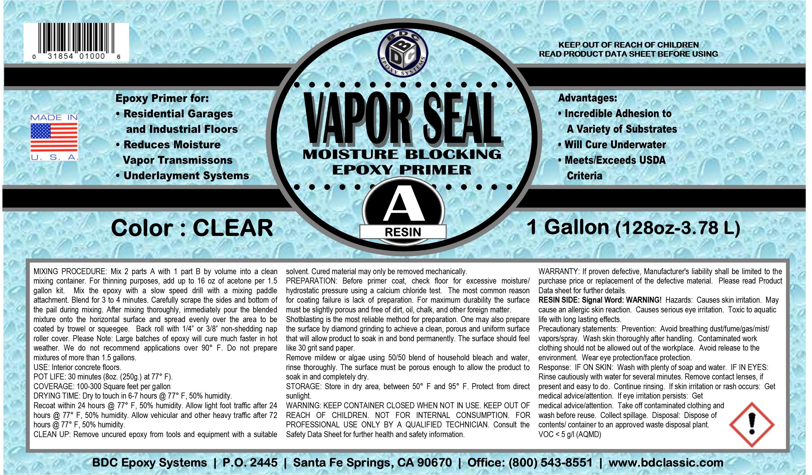 BDC Vapor Seal Primer